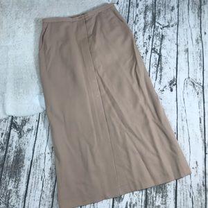 Vintage Tan Brooks Brothers 100% Wool Skirt Sz 10